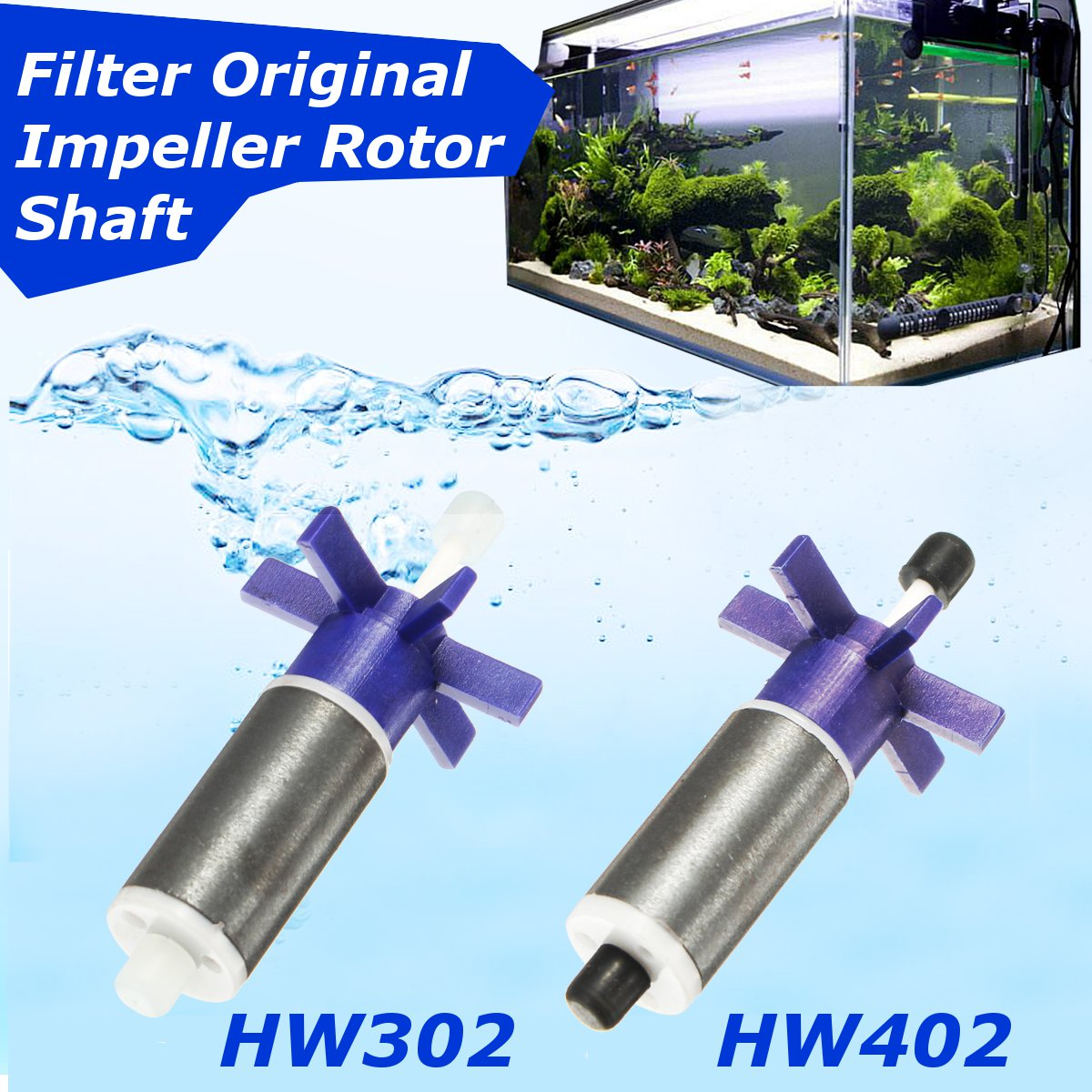 Filters Accessories HW302 HW402 Canister Filter Impeller Rotor Shaft For Sunsun 68x33mm Filter Vat Water Pump Impeller