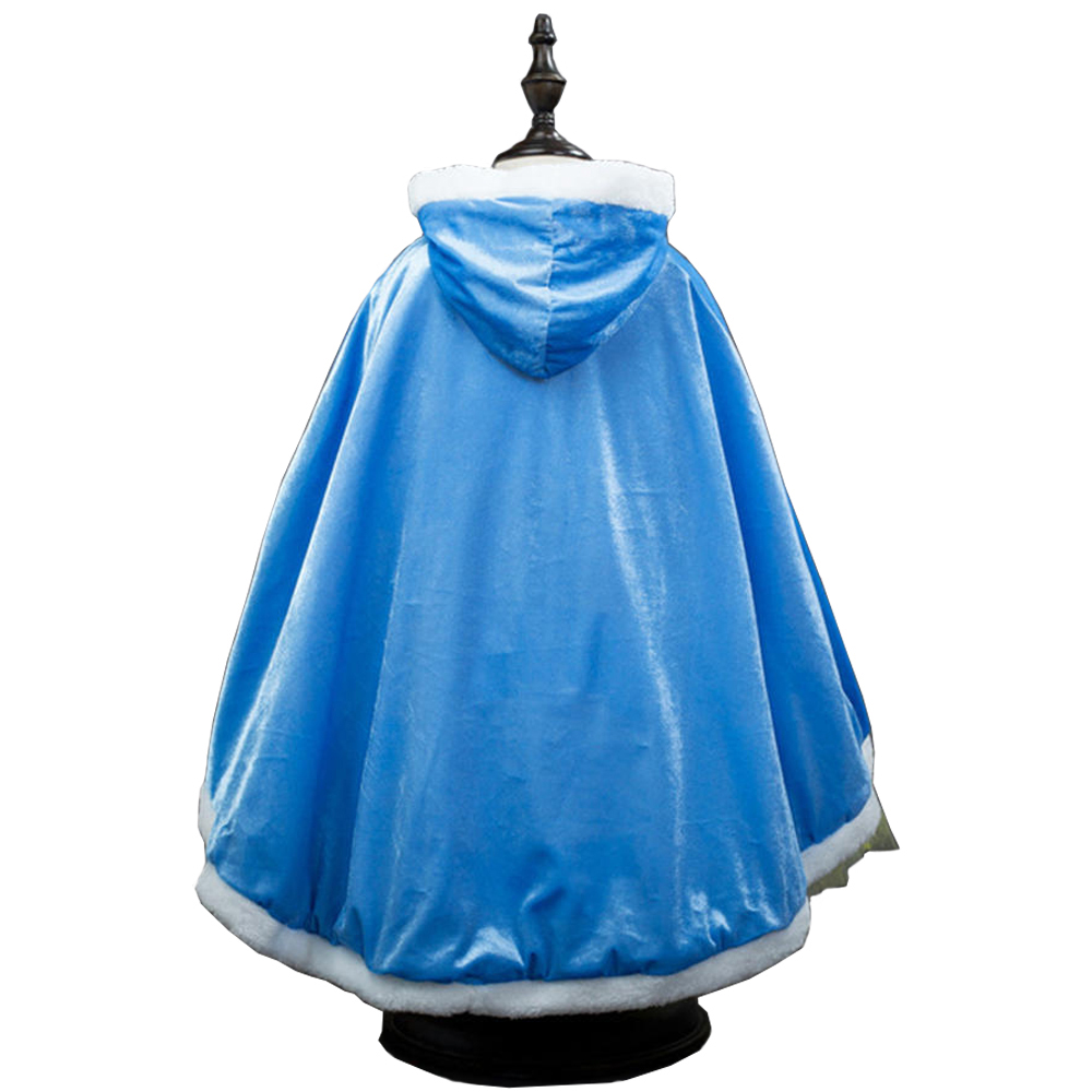 Princess Elsa Cloak Christmas Costume For Kids Princess Anna Elsa Cosplay Costume Fairy Tales Cape Halloween Fancy Dress