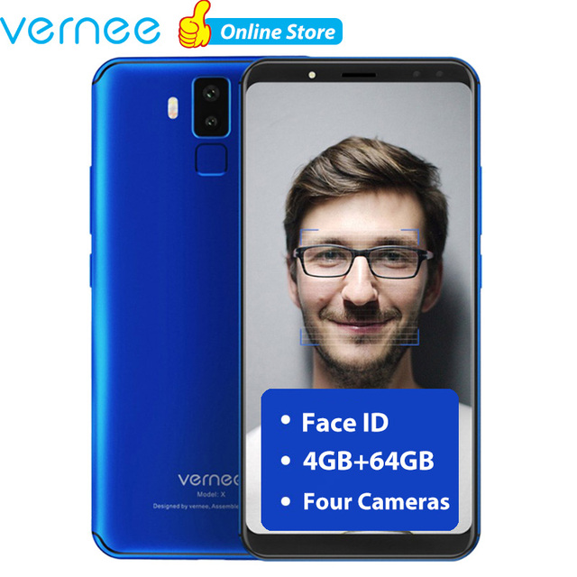 Original Vernee X 4GB 64GB 18:9 Smartphone Android Phone twincamera 16MP Mobile Phone Helio P23 Cell phones superbattery 6200mAh