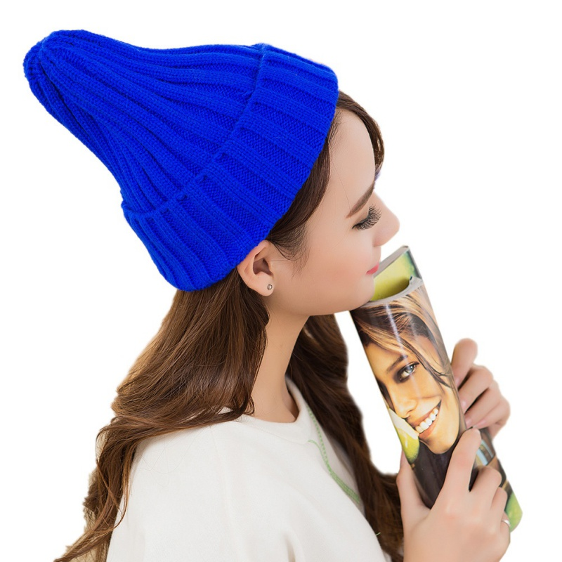 Hat Female Unisex Cotton Blends Solid Warm Soft HIP HOP Knitted Hats Men Winter Caps Women's Skullies Beanies For Girl Wholesale 5