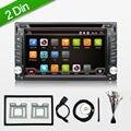 Автоэлектроника Android 4.4 Двойной 2 DIN Универсальный Автомобильный DVD в Консоли Автомобиля FM Передатчик В ТИРЕ GPS SD/USB Радио Vedio Bluetooth