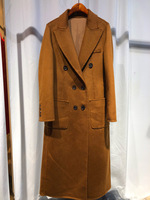 2018 winter spring women's fashion caual long design water ripple surface cashmere woolen overcoat