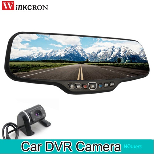 Car DVR Dash Camera 4.3 Rearview Mirror Dual Lens Full HD 1920*1080P 170 Degree 30FPS DVR Camera HD Video Recorder f10 gopro mini sports camera video recorder full hd 1920 1080p 30fps waterproof 30m camera with1 5 inch high definition screen
