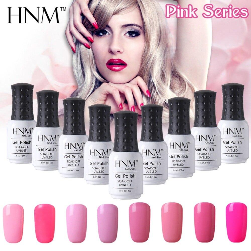 How Long Does Nail Polish Remover Last: HNM 12pcs/lot Pink Series Set Nail Polish UV Long Last