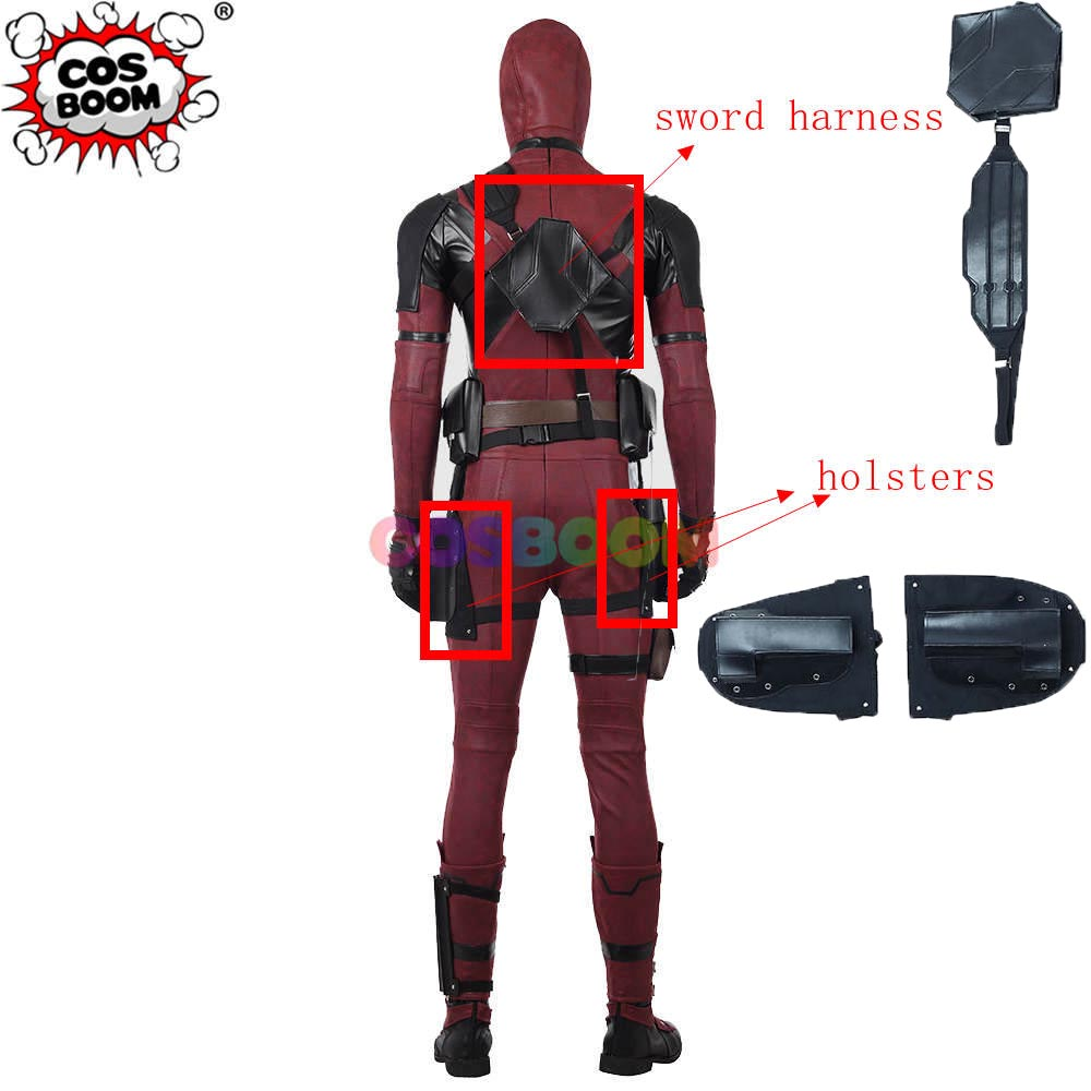 COSBOOM Deadpool 2 Deadpool Sword Harness and Holsters Halloween Carnival Cosplay Props Deadpool Cosplay Accessory