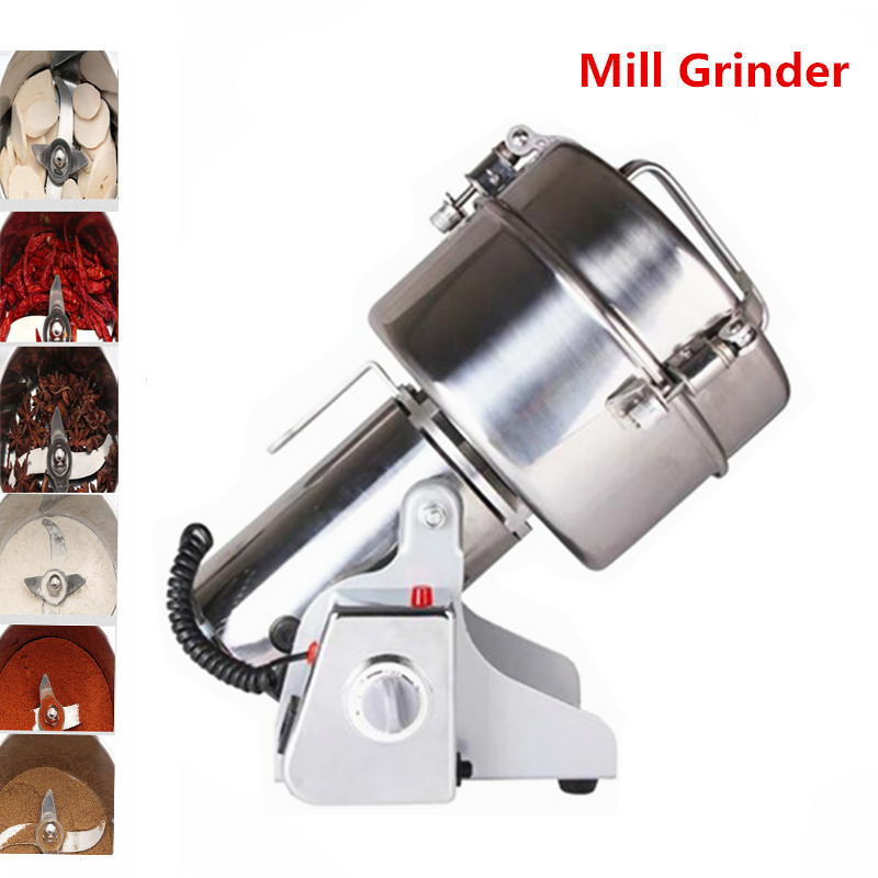 High Quality Multifunctional Chinese Medicine Grinder/Grain crusher Swing Type Stainless Steel Food Mill Electric Pepper Mill high quality 300g swing type stainless steel electric medicine grinder powder machine ultrafine grinding mill machine