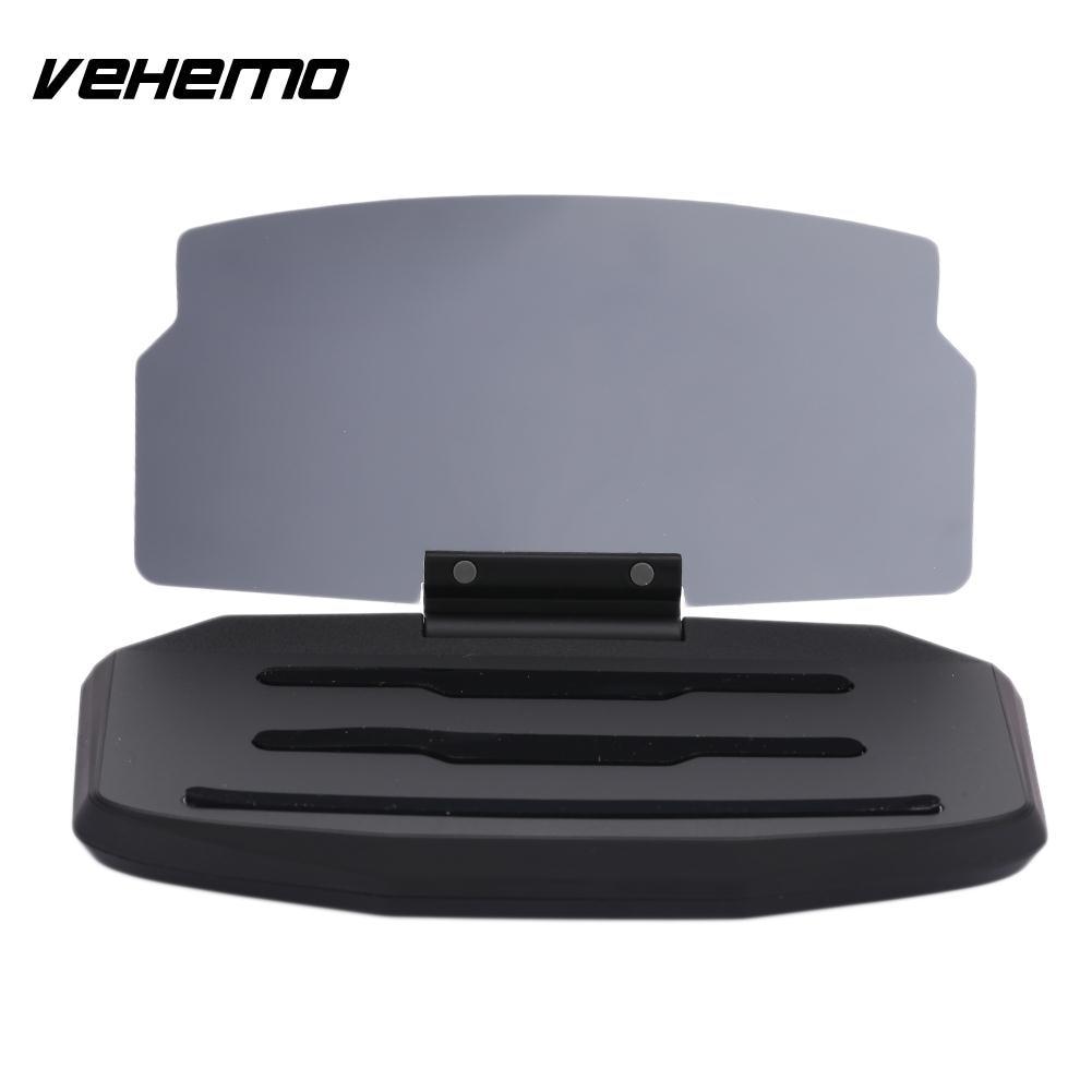 VEHEMO HD Black/Gold Car Holder HUD Head Up Display Automobile Smartphone Reflector Phone StandVEHEMO HD Black/Gold Car Holder HUD Head Up Display Automobile Smartphone Reflector Phone Stand