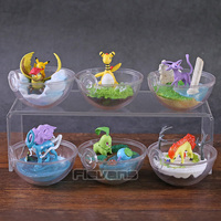 Monsters Center Ampharos Espeon Pidgeotto Chikorita Wooper Ponyta Suicune PVC Figures Toys Dolls Gifts 6pcs/set