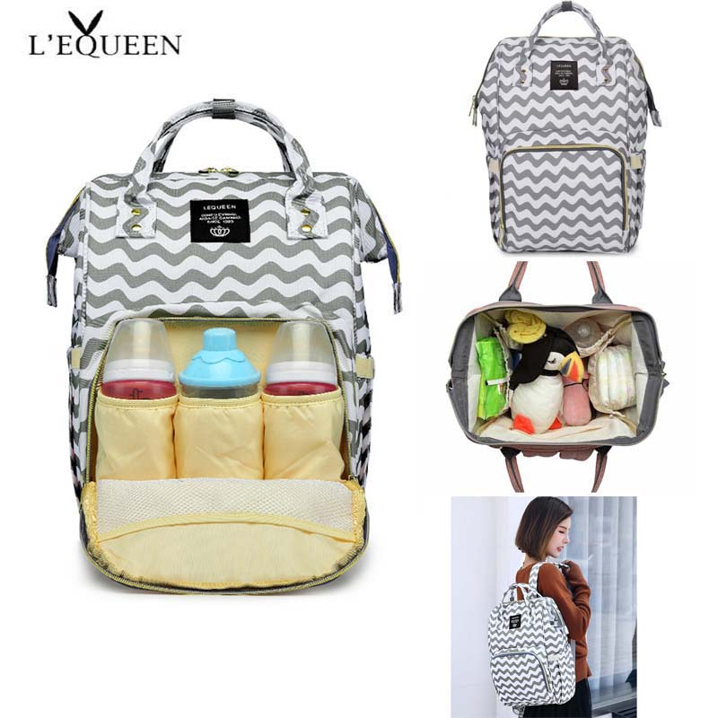 LEQUEEN  Baby Diaper Bag Mummy Maternity Nappy Bag Mama Travel Backpack Bag Waterproof Baby Nappy Stroller Handbag Baby Care
