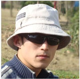 Bucket hat cotton 100% outdoor sun hat autumn and winter sun-shading basin hat