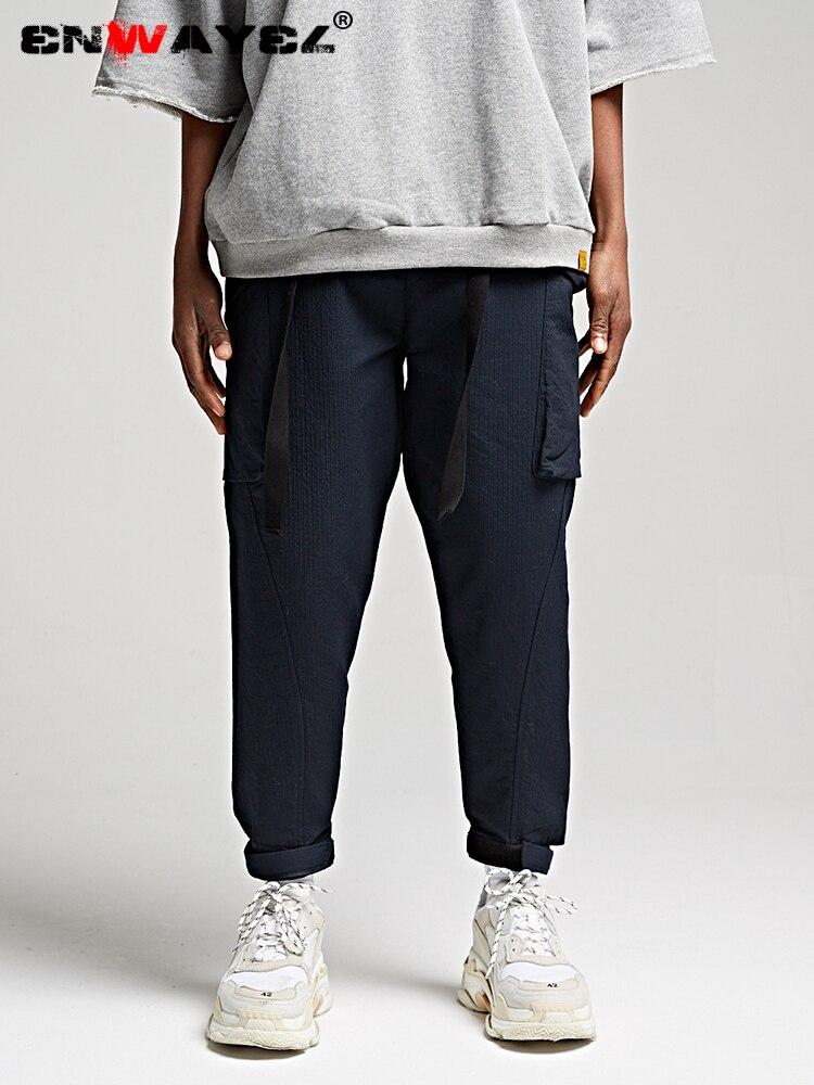 Mutter & Kinder Enwayel 2019 Neue Frühjahr Streetwear Cargo Hosen Hip Hop Für Männer Lose Seite Große Taschen Haspe Taille Design Casual Qualität K228 Attraktive Mode