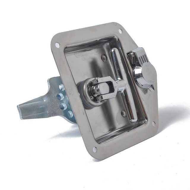 Truck Tool Box Locks >> Folding T Handle Lock Stainless Steel Flush Mount Tool Box Lock