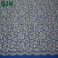 150cm 150cm Floral Embroidered Eyelashes Lace Trim Apparel Sewing Fabric Beige Black Cothes Lace Fabric DIY