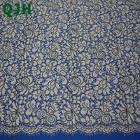 150 cm * 150 cm Floral Brodé Cils Dentelle Vêtements À Coudre Tissu, Beige et Noir Cothes Dentelle Tissu DIY Accessoires ZU072