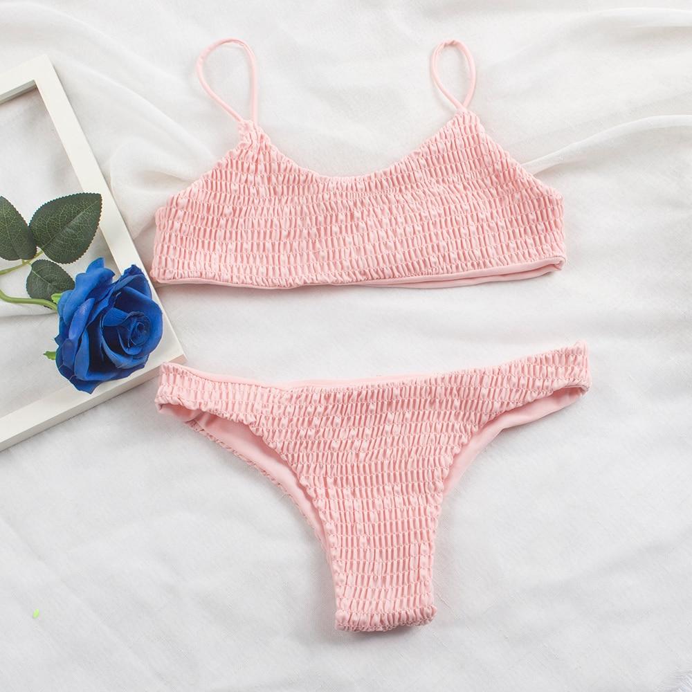 HTB1GhPTXyHrK1Rjy0Flq6AsaFXaS Sexy Pleated Bikinis 2019 mujer Women Swimsuit Swimwear Women Female Brazilian Bikini Set Beach Wear high cut Bathing Suit 313