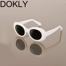 DOKLY White Cat Eye Oval sunglasses bella hadid Instagram sunglasses