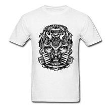 Classic Design T-shirt Men Mask Owl Print Tops Cotton Tees Thanksgiving Day T Shirt Personalized Tshirts Punk O Neck Clothing цена 2017