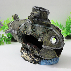 Image 3 - サンク船水族館オーナメント大破撃沈潜水艦水槽水辺洞窟装飾送料無料