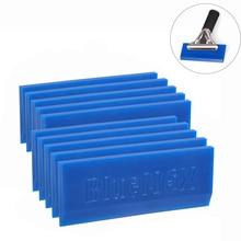 FOSHIO 10PCS BLUEMAX Rubber Spare Blade for Handle Window Tint Squeegee Vinyl Car Wrapping Sticker Glue Scraper Snow Shovel