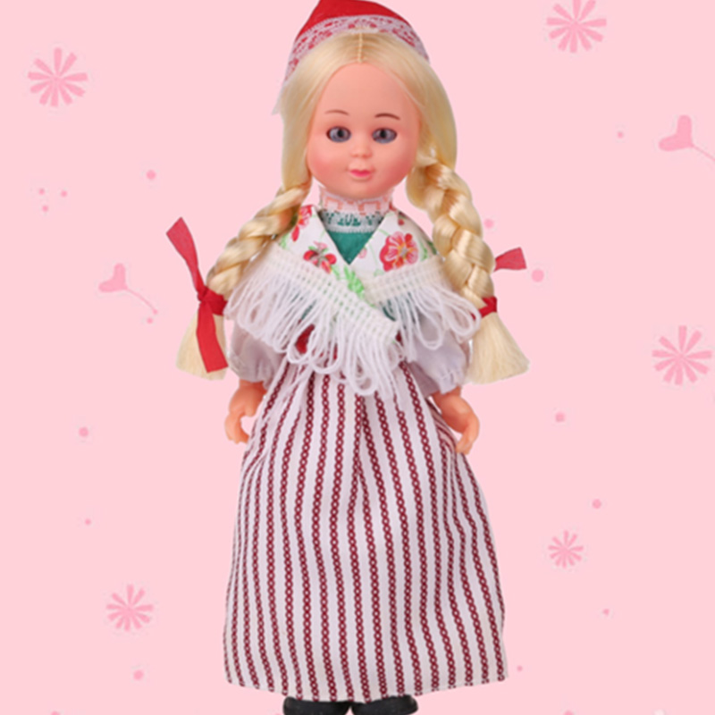7.5inch Baby Live Ethnic Dolls Finland Girls Clothes Nationlity Dolls Childrens New Beautiful Dolls Best Gift For Kids 1003-022