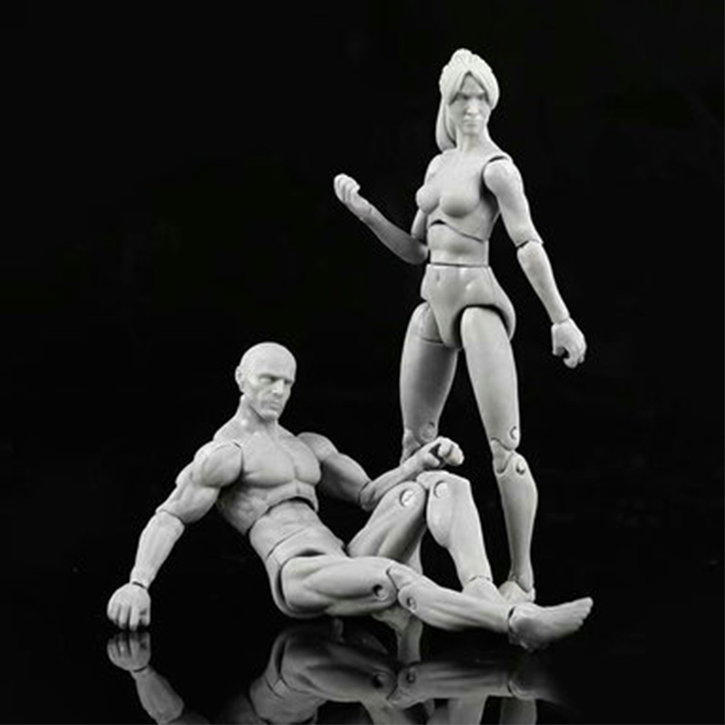 Image 1 - New Anime Archetype He She Ferrite Figma Movable Body Feminino Kun Body Chan PVC Action Figure Model Toys Doll for CollectibleAction & Toy Figures   -