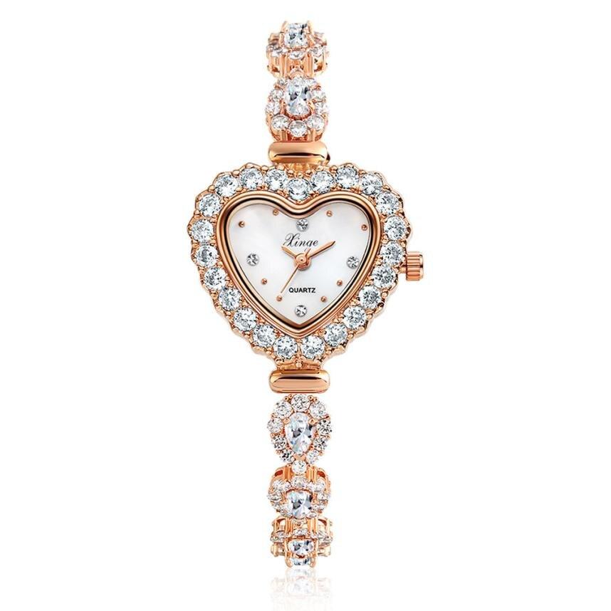 2017 New Fashion Elegant Women Casual Simple Quartz Analog Watch Band Wrist Watches L10173 fashion elegant m