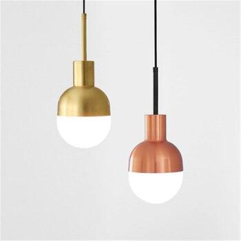 Kitchen Light  Modern Light Brass Chandeliers Golden 2/4/6 Heads Iron Pendant Lamps Bedroom Living Room Hanging Lighting Fixture
