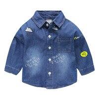 Baby Girls Boys Shirts 2019 Kids Fashion Baby Boy Clothes Spring Autumn Denim Blouse Shirt For Girls Kids Shirt For Boys