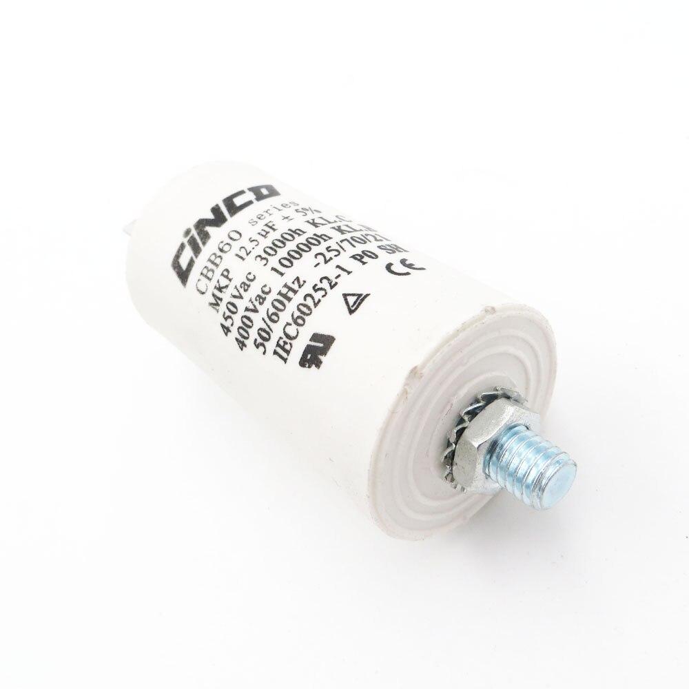 Motor Laufen Kondensator Draht Sh Db Polypropylen Film Ac 12,5 Uf 400 V 450 V Cbb60 450vac Wasser Pumpe Elektrische Motor 12.5mfd 12.5mf Home