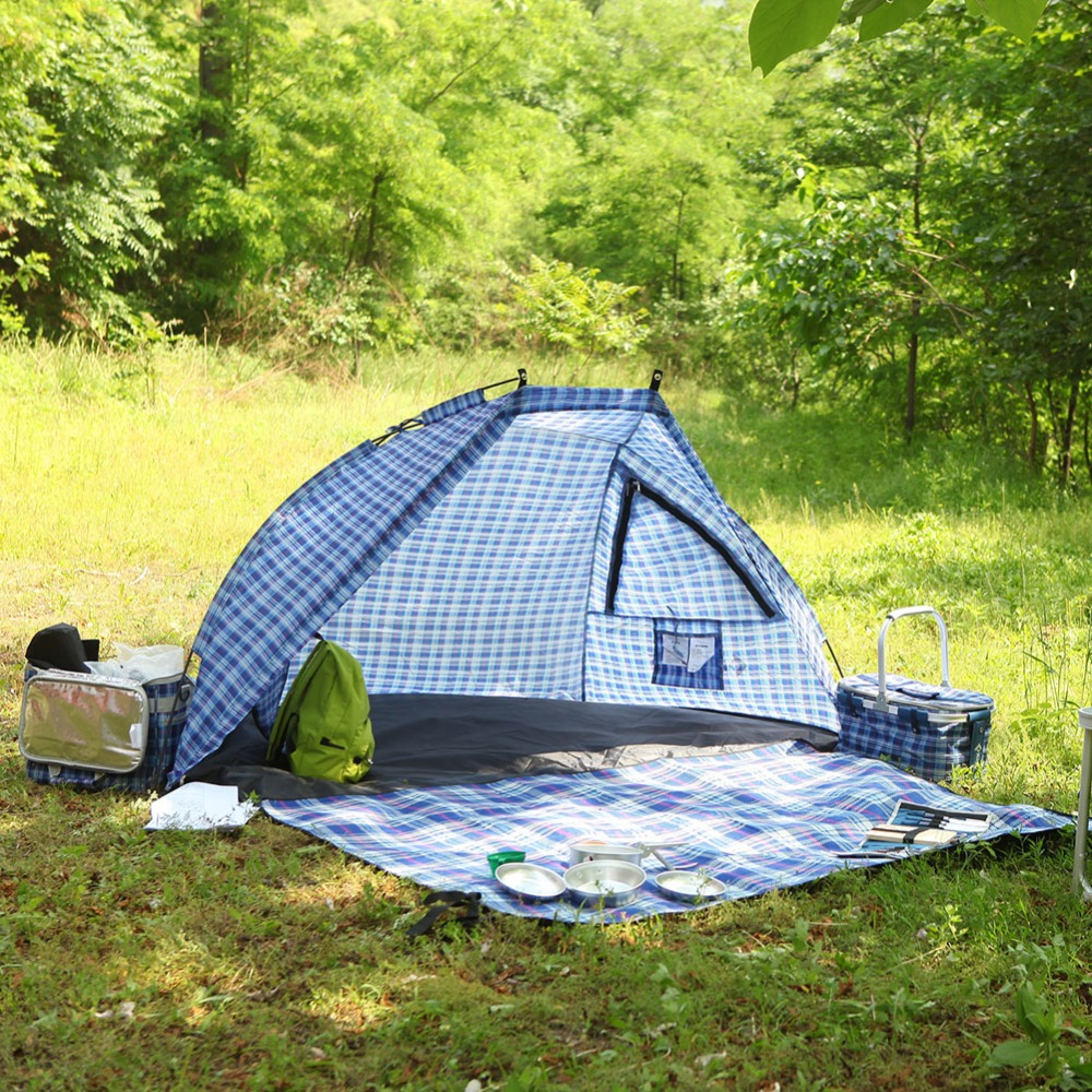on sale e102e 3e814 US $24.99 50% OFF|KingCamp Beach Tent Portable Waterproof Durable  Ultralight 2 Person Sun Shelter Canopy Tent Outdoor Activities Camping  Tents-in Sun ...