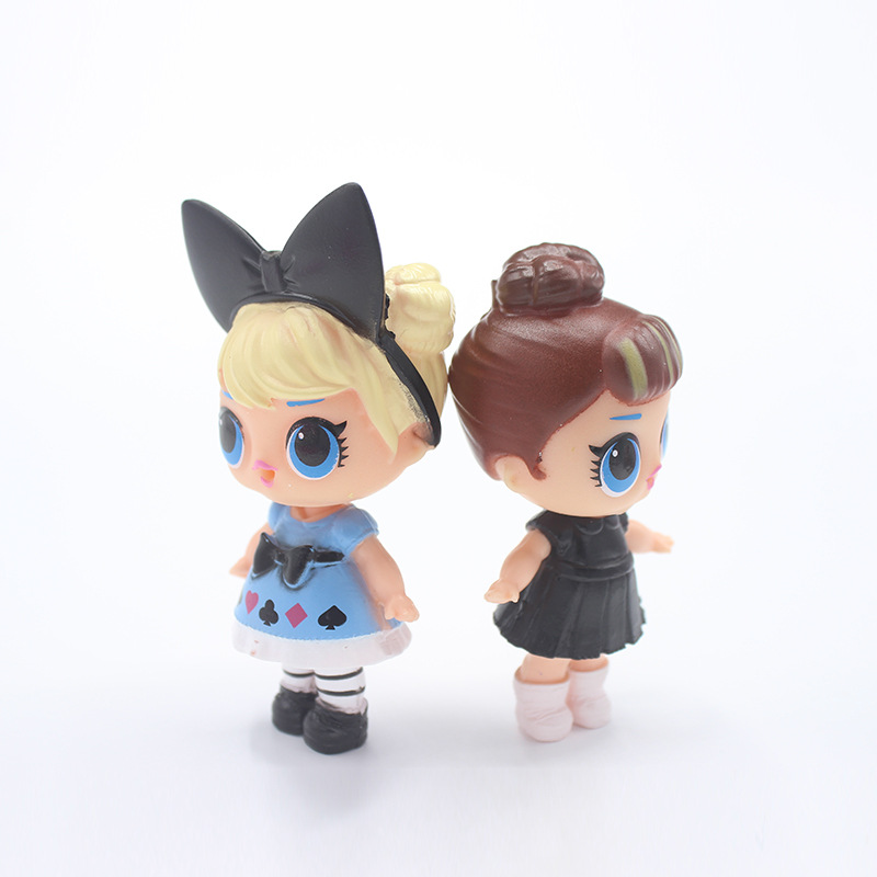 8pcs/set 8cm LOL Magic Funny Doll Dress Toy Water Spray Action Figure Toy Doll Kids Girl Model Gift
