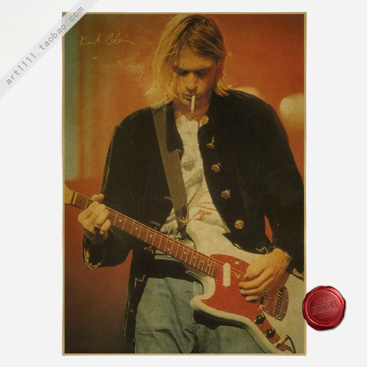 Vintage retro kurt cobain nirvana music bar restaurant for Retro house music