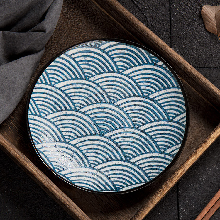 Creative Ceramic Plate Household Dinner PlateJapanese Style Dishes and Plates Sets Porcelain Dinner Sets Cutlery Dishes