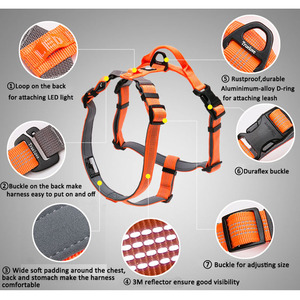 Image 5 - Truelove Neoprene Padded Dog Pet Body Harness With Handle Strap Security Belt Dog Chest Collar Pet Shop Dog Accessories Dropship