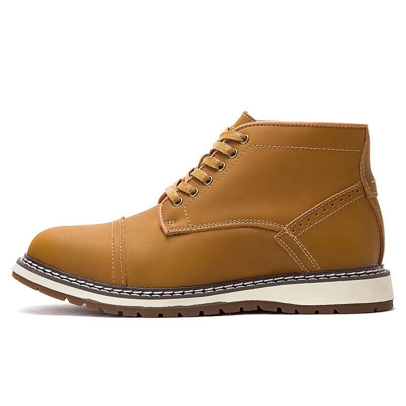 Boots Men Genuine Leather Shoes Men Lace-up Designer Ankle Boots Causal Teenager Footwear Classic Breathable Autumn Work Shoes