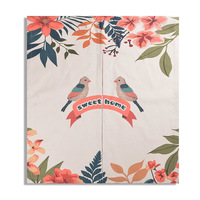 New Flower Birds Style Cotton Linen Door Curtain Wall Hanging Decor Kitchen Curtain Living Room Partition
