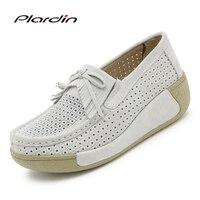 Plardin Women Flat Platform Loafers Ladies Suede Leather Moccasins Fringe Shoes Slip On Tassel Women S