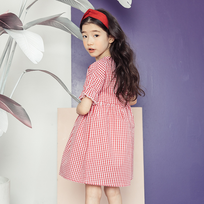 Toddler Kids Baby Girls Summer Elegant Dress Princess Girl Plaid Dress Party Pageant Dresses Vestido Children Clothes 12 Years korean toddler girl dress kids baby girl linen summer clothings princess fashion kids clothes