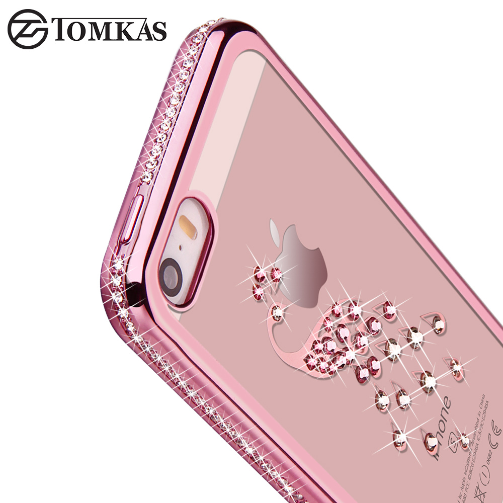 5 5s rhinestone silicone case for iphone 5s 5 se 6 s 6s plus glitter diamond cover for i phone 5. Black Bedroom Furniture Sets. Home Design Ideas