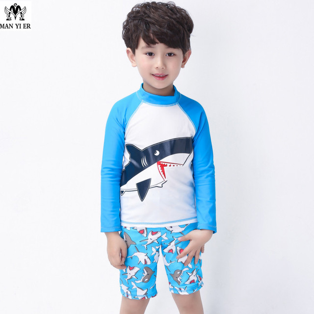 22ff00a0ef394 2018 New Children Boys Swimsuit High Quality Acrylic Swimwear Kids Swimsuit  +Swimming Trunks Bathing Suit freeshipping