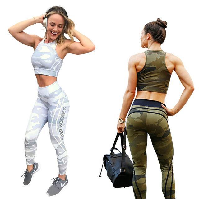 2019 Camouflage stripe fashion leggins for women leggings for fitness sexy legging  jogging push up gymshark plus size pants