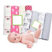4 teile/los Baby Decken Neugeborenen Musselin Windeln Baumwolle Flanell Swaddle Decke für Neugeborene Musselin Swaddle Weiche Baby Wrap Decke