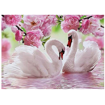 5D DIY Diamond Painting Embroidery Swan Crystal Drawing Needlework Gift Full Diamond Mosaic Cross stitch Home Decor XU image