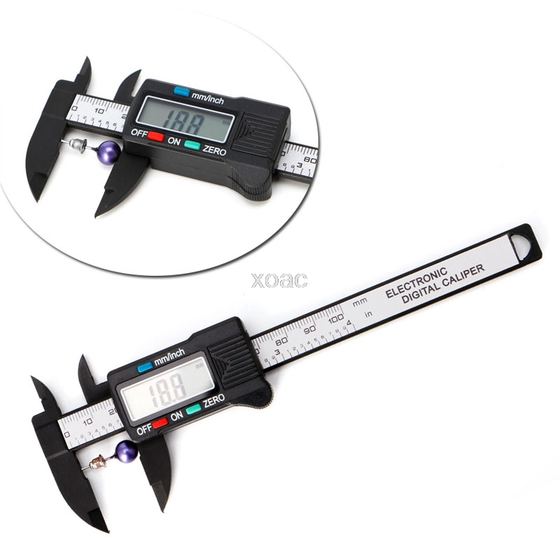 100mm LCD Digital Electronic Carbon Fiber Vernier Caliper Gauge Micrometer Measuring  Stone Bead Gem Jewelry Tool   M08 dropship