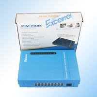 Telephone System / Mini PABX MS108/ 1 PSTN line 8 extension /with transfer Call ID Directly factory