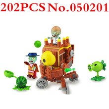 цены на Plants Vs Zombies Wild West BOSS Series Building Bricks Blocks Anime Action Figures Minecraft Toys For Children Gifts DBP299  в интернет-магазинах