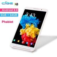 Бесплатная доставка 8 дюймов планшетный ПК Восьмиядерный 6 ГБ ОЗУ 64 Гб ПЗУ Android 8,0 WiFi Bluetooth Две sim-карты 3g 4G планшеты LTE + подарки