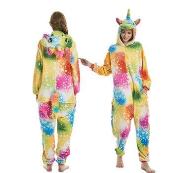 franela de dormir conjuntos hombres ropa camisón unicornio de mono Unisex punto pijamas animales de adultos Kigurumi invierno de de 2019 pijama mujeres wfAOEqCHq