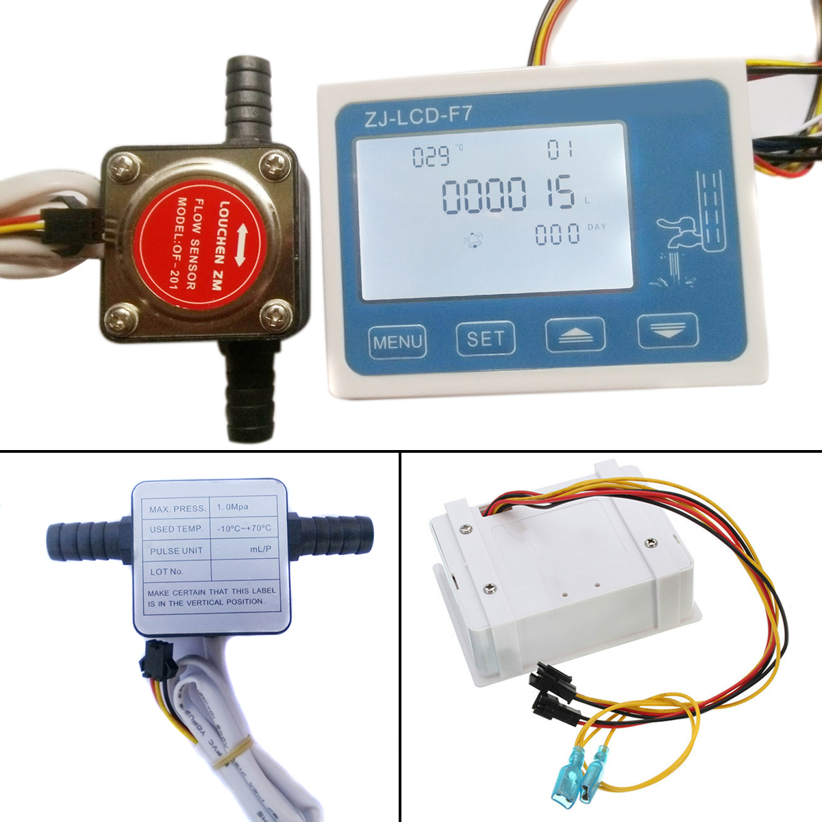 DC 12-24V Flowmeter 0-10LPM LCD Digital Fuel Oil Flow Meter With 13mm Gasoline Gear Flow Sensor Mayitr lcd digital fuel oil flow meter flowmeter with 13mm gasoline gear flow sensor 0 10lpm