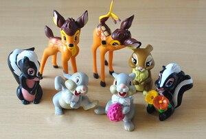 Image 2 - 7 шт./лот Классические игрушки из ПВХ в виде животных, модели оленя, куклы, фигурки героев фильма, игрушки, игрушки для детей